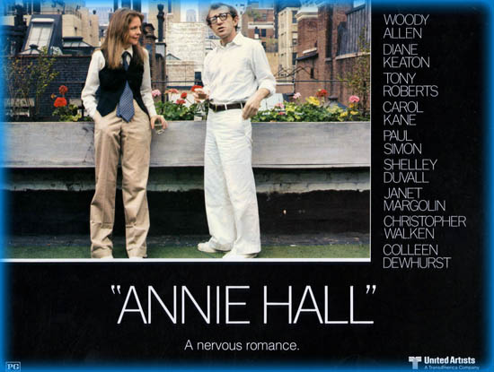character analysis of annie hall movie film studies essay - annie hall (1977), from director/actor/co-writer woody allen, is a compelling masterpiece of priceless, witty and quotable one-liners within a matured, focused and thoughtful film.
