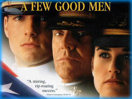 a few good men power essay A few good men essayscourtroom drama is a popular type of film which involves at least one trial and pin points much of the emotion and tension within a court of law a few good men is an emotional story of two military men accused of killing a young soldier tom cruise play.