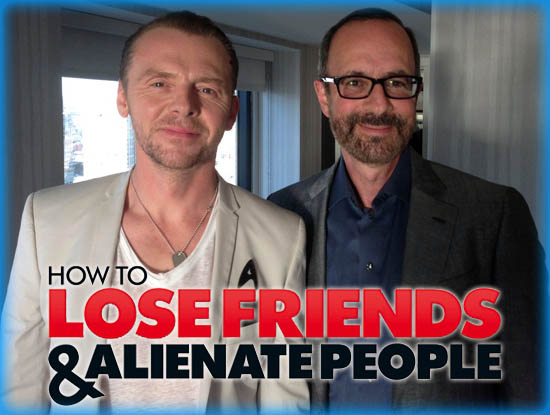 """Interview: Simon Pegg and Robert Weide from """"How to Lose Friends & Alienate People"""""""