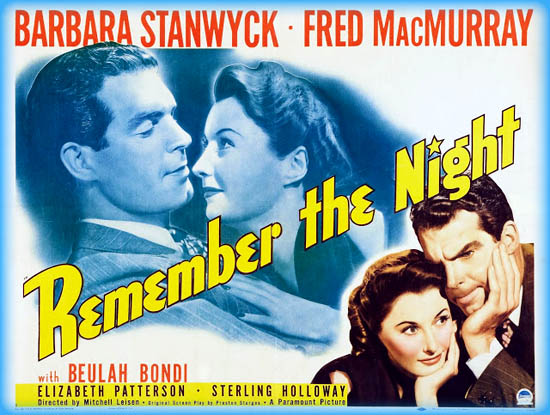 Image result for Remember the Night 1940
