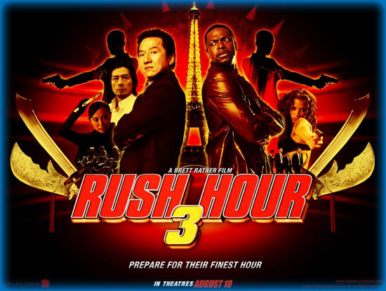 Rush Hour 3 (2007) 720p + 1080p BluRay x264 AC3 Esub Dual Audio [Hindi DD 5.1CH + English DD 5.1CH] 770MB + 3.85GB  Download | Watch Online